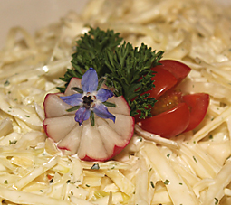 radish flower garnish picture