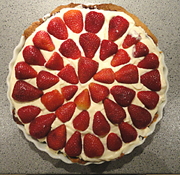 strawberry cream pie picture